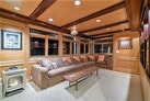 AC Mcleod-Custom Sternwheeler House Barge 1982-Elena Queen of Arts Haverstraw-New York-United States-Living Room w/ Fireplace-929666 | Thumbnail