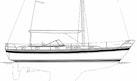 Hallberg-Rassy-42F MK I 1994-Riocaja Puerto Aventuras, Cancun-Mexico-Profile Sketch-1199088 | Thumbnail
