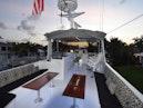 Hatteras-Cockpit Motoryacht 1989-Amelia Boca Raton-Florida-United States-Flybridge Seating Towards Upper Helm-1206087 | Thumbnail