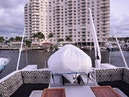 Hatteras-Cockpit Motoryacht 1989-Amelia Boca Raton-Florida-United States-Upper Deck With Tender-1206089 | Thumbnail