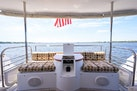 Queenship-Pilothouse Motor Yacht 1996-UNBRIDLED Stuart-Florida-United States-High Gloss Built In Counter Top between Bench Seating-1383337 | Thumbnail