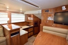 Riviera-Enclosed Flybridge 2007-Magica II Coral Gables-Florida-United States-Salon View To PORt With Galley And Dinette On STBD-1443169 | Thumbnail