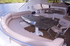 Sunseeker-Predator 2003-Low Profile PALM BEACH-Florida-United States-Aft Table With Expansive Seating For 6 8-1576387 | Thumbnail