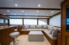Rybovich-73 Convertible 2018-No Agenda North Palm Beach-Florida-United States-Leather L Shape Couch to Starboard and a Leather Ottoman-1486322 | Thumbnail