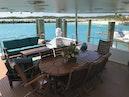 Broward-Custom Extended 1990-MON SHERI Fort Lauderdale-Florida-United States-Aft Deck Dining-1515074 | Thumbnail