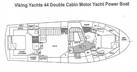 Viking-44 Double Cabin 1990-Never Mind Cape Coral-Florida-United States-Layout-1536519 | Thumbnail