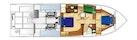 West Bay-Sonship 58 1997-CAVILEAH Stuart-Florida-United States-Below Deck Layout-1593714   Thumbnail