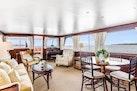 Trumpy-Houseboat 1972-DOVETAIL Newport-Rhode Island-United States-Main Saloon Looking Aft-1648675 | Thumbnail