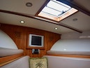 Custom-Middleton Sports Fisherman 2008-Chasing Tail Dania-Florida-United States-Fore Cabin Detail with TV and Hatch to Bow-913252 | Thumbnail